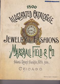Reproduction 1896 Marshall Field & Co. Catalog by PersimmonFrost, $22.00