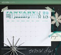 A Thrifty Mrs | A FUN THRIFTY LIFE: The best free 2013 printable calendars