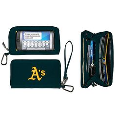 Oakland Athletics Green/Yellow Deluxe Wallet with Touchscreen
