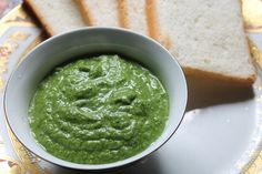 Green Chutney for Sandwich / Bombay Sandwich Chutney Recipe - Yummy Tummy Sandwich Chutney Recipe, Green Chutney Recipe, Grilled Sandwich Recipe, Sandwich Recipes, Indian Chutney Recipes, Indian Food Recipes, Vegetarian Recipes, Kitchen Recipes, Cooking Recipes