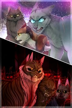 headcanon that since hollyleaf and ashfur reverted back to their not-angry-enough-to-try-and-murder-clanmates selves, they started talking and realized that they were p cool assholes jerks love the...