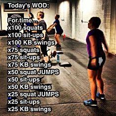 WOD-Squats, sit-ups & Kettlebell swings