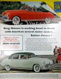 1940s Borg-Warner Kaiser Cars Vintage by thevintageshop on Etsy