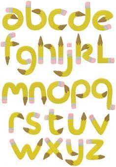 school pencil alphabet