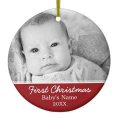 Baby's First Christmas Photo - Single Sided