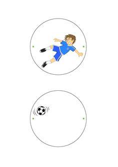 Soccer Thaumatrope craft for kids