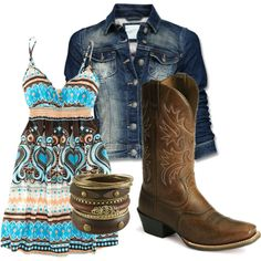 Like the dress and boots