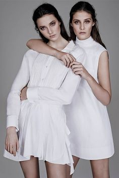 White Shirt Alert' Matilda Lowther & Charlotte Wiggins by Ben Weller for WSJ Spring 2014