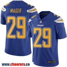 Men's San Diego Chargers #29 Craig Mager Royal Blue 2016 Color Rush Stitched NFL Nike Limited Jersey