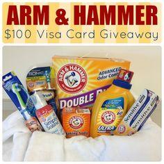 A Little Tipsy: ARM & HAMMER $100 Visa Card Giveaway! http://www.alittletipsy.com/2013/08/arm-hammer-100-visa-card-giveaway.html