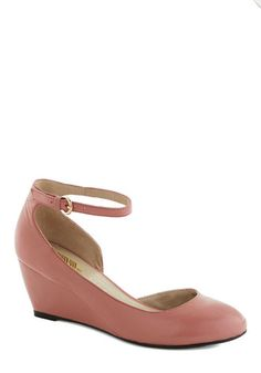 Stylish Steps Wedge in Rose, #ModCloth