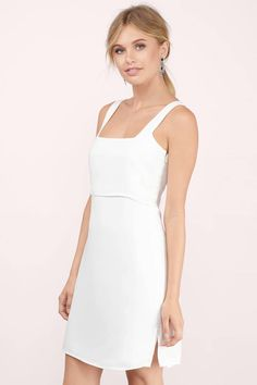 White Dresses, Tobi, Ivory Over It All Shift Dress
