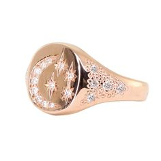 Anine Bing Gold Ring With Diamond Star