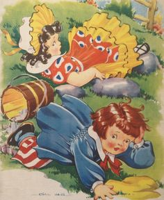 "Vintage ""Jack and Jill"" by Ethel Hays, via Etsy."