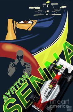 Items similar to Retro vintage Ayrton Senna racing fine art illustrator poster print poster on Etsy Chevy, Bambi Disney, Formula 1 Car, Mclaren F1, Car Posters, Thing 1, F1 Racing, Illustrations Posters, Retro Vintage