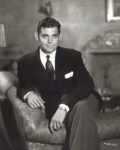 Clark Gable sexy and charismatic