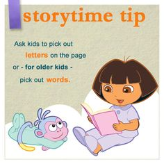 Storytime before bed is a great way to spend time with your child.  #Storytime #NickJr #Dora #Reading #Bedtime