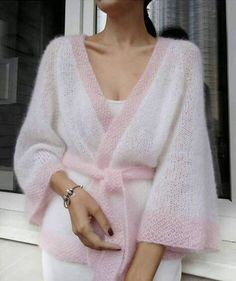 Knitwear Fashion, Knit Fashion, Look Fashion, Fashion Outfits, Sweater Knitting Patterns, Knit Patterns, Mohair Sweater, Knit Cardigan, Fashion Bloggers Over 40