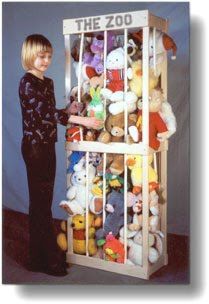 This seems like a good way to store all the stuffed animals we have and it's cute too.