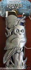 Bic Lighter Case Mystic Cigarette Cigar Pewter Owl Gothic Biker Skeleton