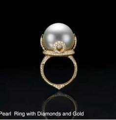 Inbar pearl diamonds and gold