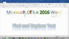 How to find and replace words in Microsoft Office Word 2016