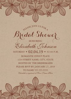Burlap lace bridal shower invitations rustic lace and pearls cards kraft paper rustic bridal shower invitations vintage country lace cards filmwisefo