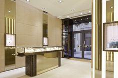 Pomellato Goldenes Quartier Vienna Pomellato, Vienna, Divider, Mirror, Room, Design, Furniture, Home Decor, Rhinestones