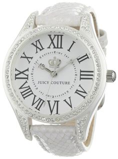 Juicy Couture white leather watch