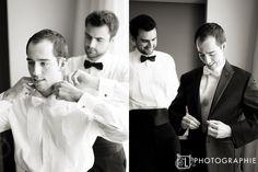 bow-tie help (groom and best man)