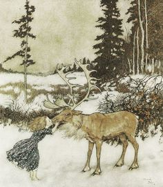 arthur rackham snow painting | Myth & Moor: A book of snow