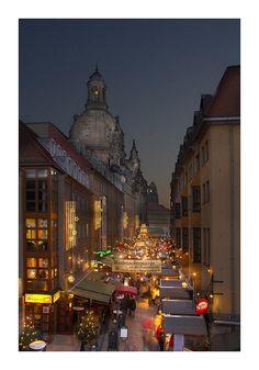 Christmas in Frauenkirche Church of Dresden, Germany