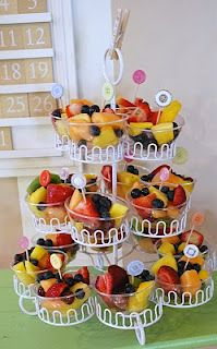 fruit cups in cupcake holder