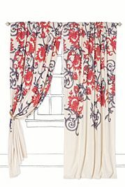 Stitched Mansoa Curtain-Anthro