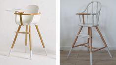 Relooking chaise haute Ikea en bois