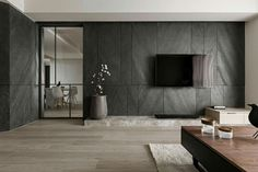 Stylish Luxury Living Room Design Ideas With Modern Home Accent Interior Walls, Interior Design Living Room, Living Room Designs, Modern Apartment Design, Gray Interior, Feature Wall Design, Tv Wall Design, Tv Feature Wall, Interior Design Minimalist