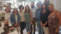 Visita a la biblioteca de Javier Cercas  (foto cortesia de Vivaleliana)