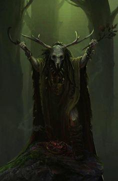 Druid by Roy Steur Fantasy Art Watch Fantasy Kunst, Dark Fantasy Art, Fantasy Artwork, Fantasy World, Dark Art, Fantasy Witch, Final Fantasy, Arte Ninja, Art Watch