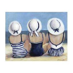 Canvas Art, Canvas Prints, Beach Canvas Paintings, Blue Canvas, Boho Beach Style, Beach Posters, Travel Posters, Beach Art, Seaside Art