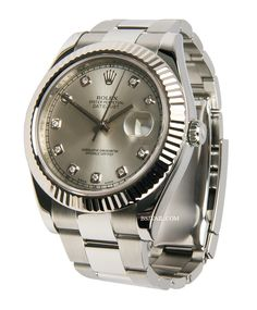 Diamond date just 2 | Rolex Datejust II SS Factory with Diamond Dial 11634