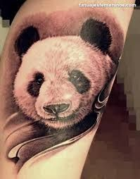 Resultado de imagen para tatuajes de osos panda