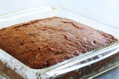 Applesauce Spice Cake ~ Easy applesauce spice cake, made with applesauce, cinnamon, allspice, nutmeg, cloves, walnuts, and raisins. ~ SimplyRecipes.com