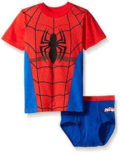 ae9e4f611ec Marvel Boys Spiderman Underwear and TShirt Set Assorted 23T -- Check this  awesome product by