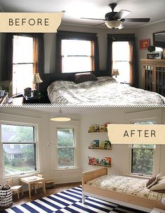 kid's room - before and after