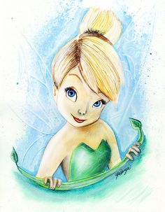 Here is Disney& version of Tinker Bell from & Pan& Tinkerbell And Friends, Tinkerbell Disney, Peter Pan And Tinkerbell, Tinkerbell Fairies, Disney Fairies, Tinkerbell Drawing, Tinkerbell Party, Hades Disney, Disney Kunst