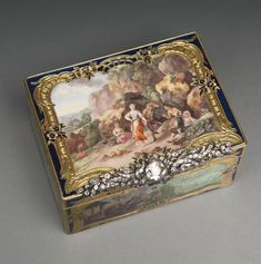 A German gold, enamel and diamond snuff box, the enamels attributed to Isaak Jacob Clauce [Clause], Berlin, circa 1750-60 | Lot | Sotheby's