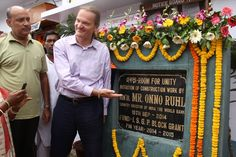 """Mr. Onno Ruhl initiated the construction work of Chandipur Gram Panchayat's new initiative """"Ekota"""" Room for Unity."""