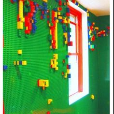 LEGO walls?! Uhh..YES PLEASE!! but maaybe just one wall..