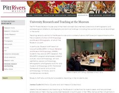 Pitt Rivers Museum website - University Research and Teaching at the Museum