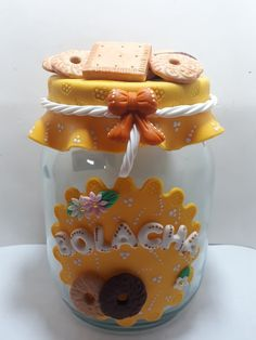 Clay Jar, Decoden, Pots, Cold Porcelain, Gingerbread Cookies, Biscuits, Polymer Clay, Bolo Fake, Crafts